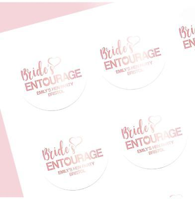 Bride/'s Flock Personalised Hen Party Stickers Pack of 12