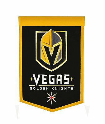 02318c0c956 Las Vegas Golden Knights NHL Embroidered Wool Traditions 12x18 Banner Flag