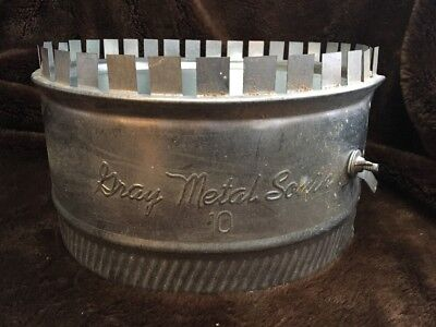 """New """"Gray Metal South"""" 10inch Sheet Metal AC Duct Tap"""