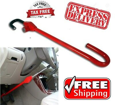 Lock Steering Wheel Club To Pedal Universal Safety Car Truck Auto Van Anti Theft