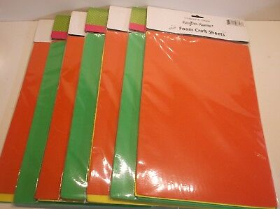 731015086436 (7) Krafters Korner 3 Pack Foam Craft Sheets - Red, Yellow, Green