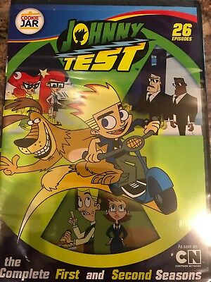 Johnny Test Complete Seasons 1 & 2 Three Disc Set Dvd Brand New Free Shipping!!