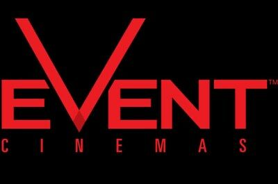 4 X Event Cinema/Greater Union Vouchers valid for Adults - Expire 30 June 2019