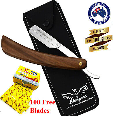 Barber Salon Straight Cut Throat Shaving Razor Shave Rasoirs Rasoi +20 Blades