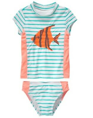NWT Gymboree Girl Fish Rash guard SET 4 5 6 7 8 10 12 Swim shop UPF 50+
