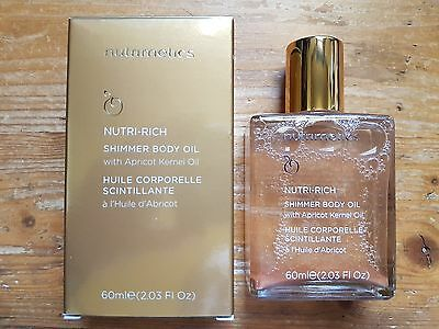 Nutrimetics ' NUTRI-RICH Shimmer Body OIL With Apricot Kernel Oil ' RRP $50.