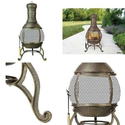 Kay Home Products Deckmate Corona Outdoor Chimenea Fireplace Model 30075