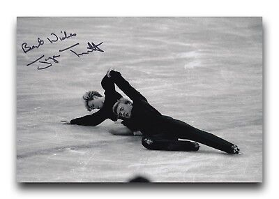 Jayne Torvill Hand Signed 12X8 Photo Figure Skating - Olympic Autograph 1.