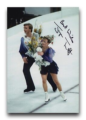 Jayne Torvill Hand Signed 12X8 Photo Figure Skating - Olympic Autograph 2.