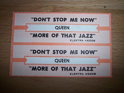 "2 Queen Don't Stop Me Now Jukebox Title Strips CD 7"" 45RPM Records"