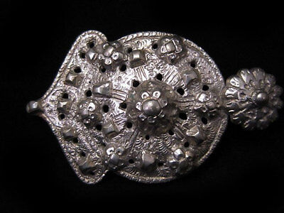 AMAZING ANTIQUE 1800s. SILVER BUCKLE with MAGNIFICENT DECORATION!!!