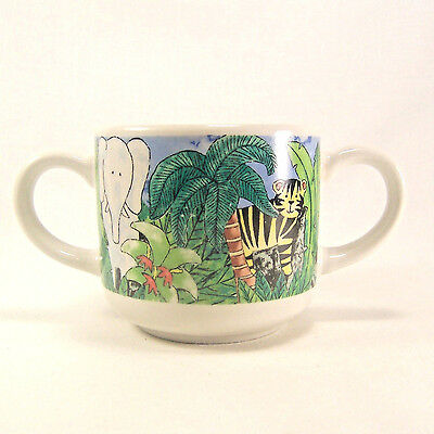 Jungle KidsChilds Cup Multi-Colored by Retroneu Everyday China 1998 Two Handles
