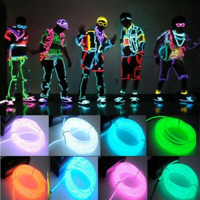 Party Atmosphere Glow String Flash Rope Tube Neon LED Strip Car light EL Wire