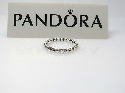 031b5d614 1 w/Box Pandora Cloud 9 Bubble Sterling Silver Ring 190381 GREAT 4 Stacking