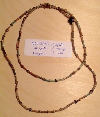 Ancient Egyptian Authentic 4,000+ Year Old Restrung Large Necklace Mummy Beads
