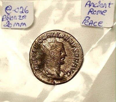 Ancient Roman Silver Billon 20mm Peace Times 2-4th CenturyAD Super Nice Coin!