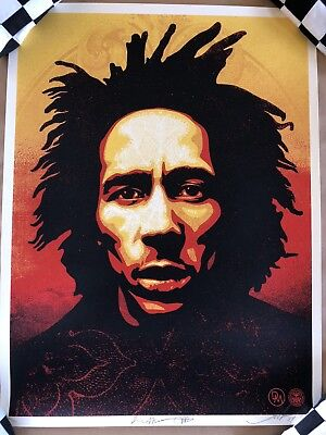 Shepard Fairey (Bob Marley) Print Signed and Numbered