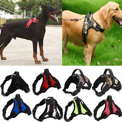 Nylon Large Pet Dog Harness Vest Collar Adjustable Walk Soft Hand Strap S/M/L/XL