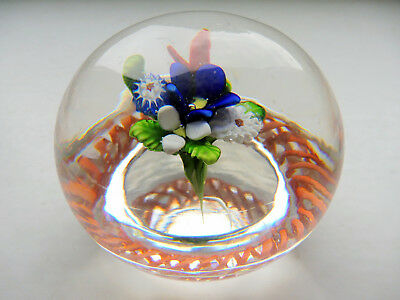 ANCIEN PRESSE PAPIER SULFURE SAINT LOUIS 1845 PAPERWEIGHT 19th BOUQUET Baccarat