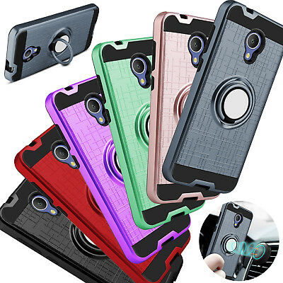 For Alcatel TCL LX/Ideal XTRA Phone Case Shockproof Ring Stand Holder Hard Cover