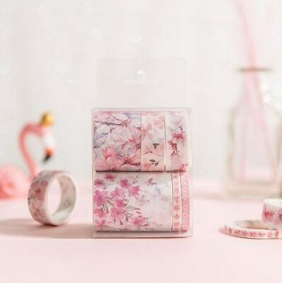 6Roll/set Cherry blossom series Washi Tape DIY Diary decoration scrapbooking