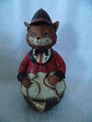 Fox Dressed in Riding Hunting Outfit & Horn  Hunter Huntsman Figurine