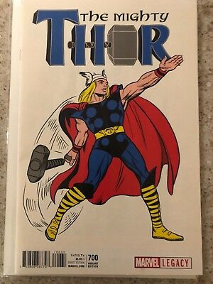 """Marvel Legacy Mighty Thor #700 1:50 """"T-Shirt"""" Variant by Jack Kirby"""