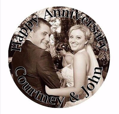 Personalised Custom Edible Round Wafer Cake Topper