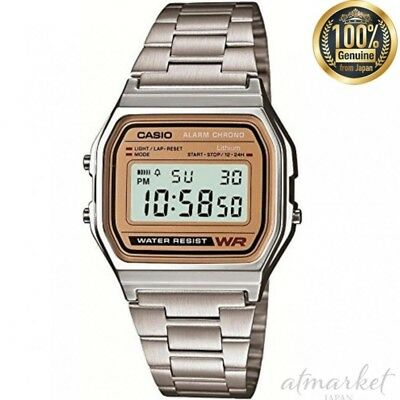 CASIO A-158WEA-9JF wrist watch standard Silver Band Men's genuine from JAPAN NEW