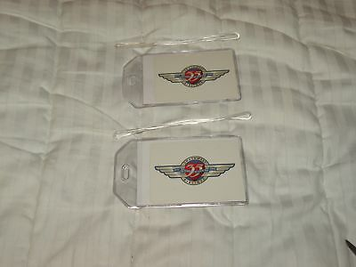 SOUTHWEST AIRLINES LUGGAGE TAGS 35th ANNIVERSARY ID  NAME tags 2 BAG TAGS