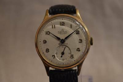 SMITHS DELUXE vintage antique 15JEWELS Wrist watch Rare Excellent condition Used