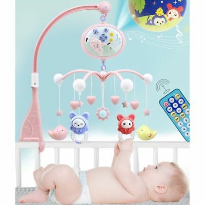 Musical Soothing Melodies Baby Crib Mobile Bell Toy With 21 Keys Remote Control