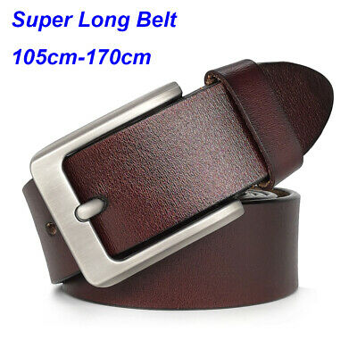Big and Tall Casual Belts for Jeans Men's Belt 100% Real Leather Belts for Men