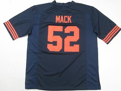Khalil Mack #52 Chicago Bears Unsigned Custom All-Sewn Jersey Throwback