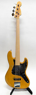 Custom Fecker Electric Fretless Jazz Bass Warmoth Neck, DiMarzio Body w/ Gig Bag