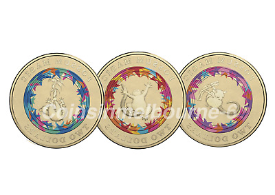 2017 Possum Magic - $2 Dollar UNC Coin Set Australia