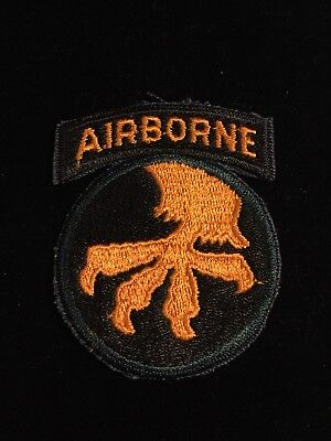 17th Airborne Patch With Green Edge Later Original WW2 Type