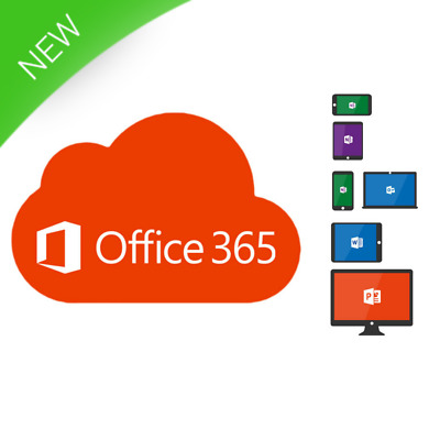Microsoft Office 365 Instant Account 5 Devices PC Tablet Mobile 1 Year Digital ✅
