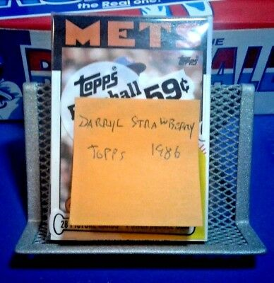 1986 Unopened Topps Baseball Cards Pack - Darryl Strawberry - Free Shipping