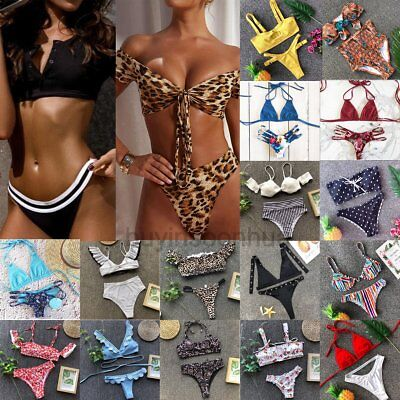 2019 Womens Push-up Padded Bra Bikini Set Swimsuit Triangle Swimwear Bathing Lot