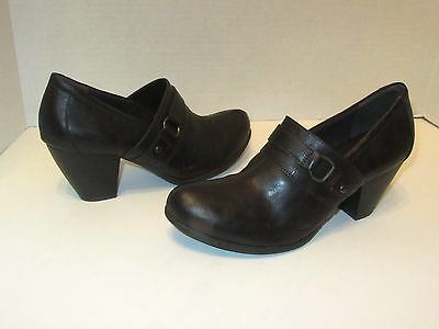 New Womens Born b.o.c Channi Shootie Heels Leather Shoes SZ 7 8 8.5 Brown