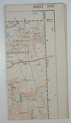1948 old vintage OS Ordnance Survey 1:25000 First Series map ST 92 Tisbury 31/92