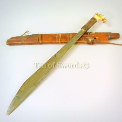 Antique Dayak Sword Mandau Borneo Parang Headhunting Jungle Knife