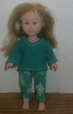 Doll Clothes-fit Mini American Girl Boy My Life-Top & Pants-Green Diamond