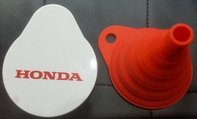Genuine Honda Silicon Collapsible Folding Travel Funnel + Hard Protective Case