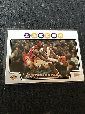 KOBE BRYANT 2008-09 Topps  24 VS LeBron James NMMT CARD LOS ANGELES LAKERS 55958290a5f0