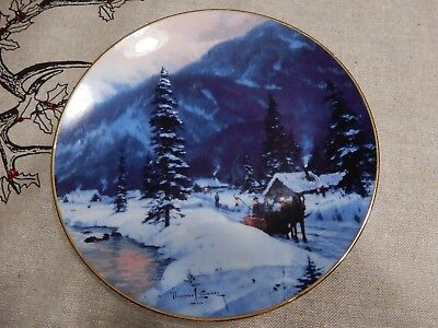"""Thomas Kinkade Plate """"The Journey Home""""   by Knowles"""