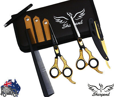 """Pro SHARPEND 6.5"""" Barber Hair Cutting Thinning Scissors Shears Hairdressing Kit"""