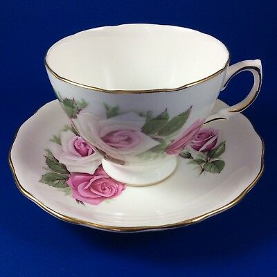 Royal Vale Pink Roses Bone China Tea Cup And Saucer