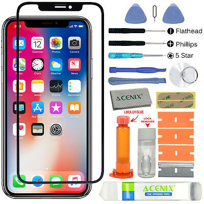 ebuyerfix® Black Front Glass Touch Screen Lens Replacement For iPhone XS Repair